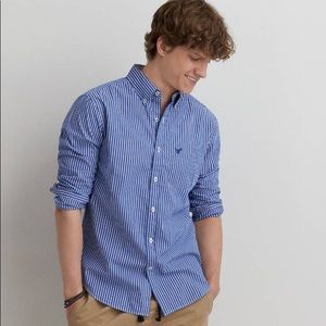 American eagle outfitters striped button down